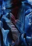 蓝色明亮的深度星形 免版税库存照片