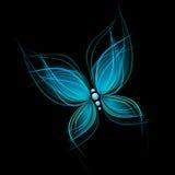 蓝色明亮的蝴蝶 免版税库存照片