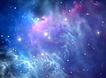 蓝色星云空间 库存图片