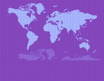 蓝色映射世界 免版税库存图片