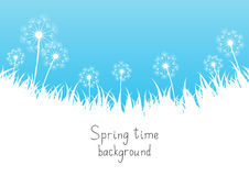 蓝色春天背景 向量例证