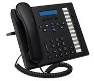 蓝色显示空的ip办公室电话系统 免版税库存照片