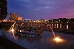 蓝色晚上在哥伦布 免版税图库摄影