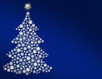 蓝色晚上结构树 免版税库存图片