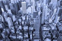 蓝色曼哈顿 免版税库存照片