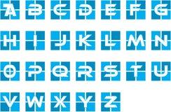 蓝色最初的字母表公司商标 图库摄影