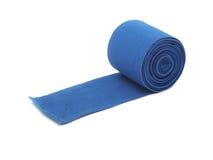 蓝色有弹性绷带 免版税库存照片