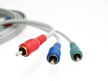 蓝色有线电视综合节目绿色红色 免版税图库摄影