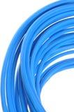 蓝色有线电视网 免版税图库摄影