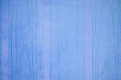 蓝色木墙壁 库存图片