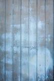 蓝色木板条外部墙壁  免版税库存图片
