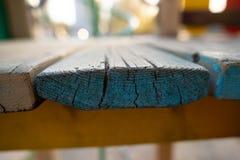 蓝色木板纹理木头 免版税库存照片