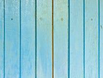 蓝色木纹理 免版税库存照片