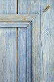 蓝色木门细节  免版税库存照片