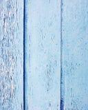 蓝色木头的小条被绘 库存照片