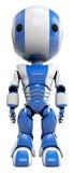 蓝色机器人白色 库存图片