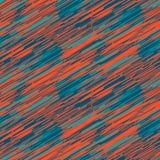 蓝色杂文的冲程和红色无缝的样式 皇族释放例证