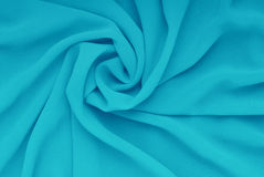 蓝色材料,布薄绢 免版税库存图片