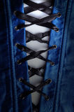 蓝色束腰 库存照片