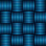 蓝色条纹织法 库存图片