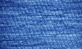 蓝色条绒纹理 库存图片