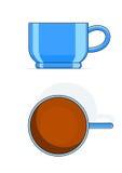 蓝色杯子茶 库存例证