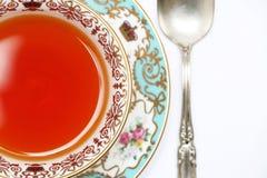 蓝色杯子茶 免版税库存图片