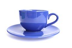 蓝色杯子茶 库存图片