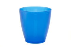 蓝色杯子 免版税库存照片