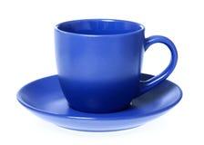 蓝色杯子 免版税图库摄影
