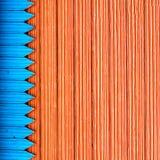 蓝色板条红色木 免版税库存图片