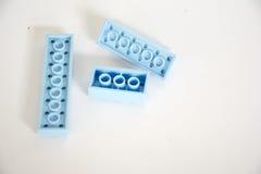 蓝色构件 免版税图库摄影
