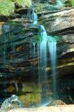 蓝色柔和的瀑布 免版税库存照片