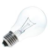 蓝色查出的电灯泡 免版税库存图片