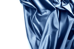 蓝色查出的缎 免版税库存图片