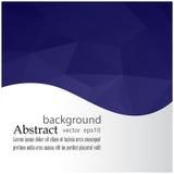 蓝色栅格马赛克背景创造性的设计模板 图库摄影