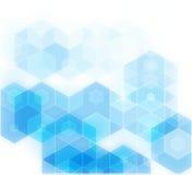 蓝色栅格马赛克背景,创造性的设计模板 免版税库存图片