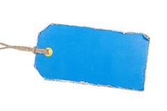 蓝色标签 免版税图库摄影