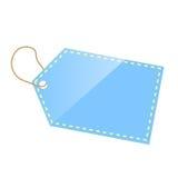 蓝色标签 免版税库存图片