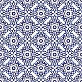 蓝色样式无缝1 免版税库存图片