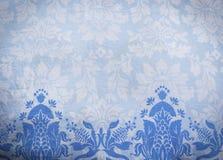 蓝色样式织品蜡染布背景 免版税库存照片