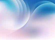 蓝色桃红色与灯光管制线剪影的天空淡色背景  库存照片