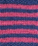蓝色桃红色羊毛 免版税库存照片