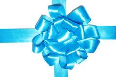 蓝色框丝带 免版税库存图片
