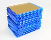 蓝色框发出光线栈 免版税库存图片