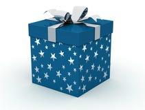 蓝色框圣诞节 免版税库存照片