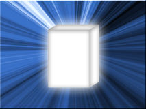 蓝色框星形白色 库存图片