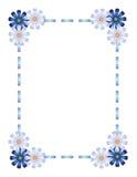 蓝色框架丝带 库存照片