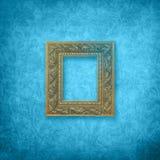 蓝色框架天鹅绒 免版税图库摄影