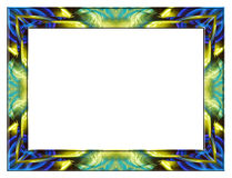 蓝色框架玻璃黄色 免版税库存照片